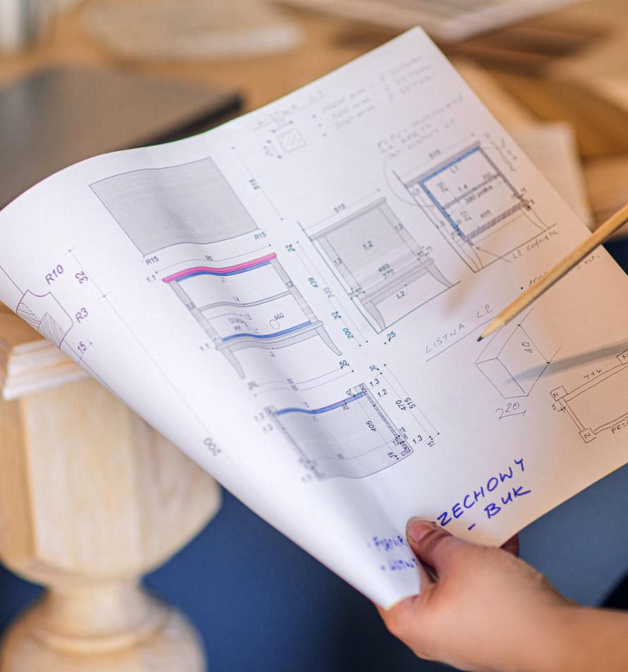 Projektowanie<br /> i produkcja mebli
